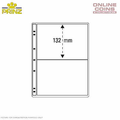 PRINZ ProFil 2 Pocket Clear Banknote / Stamp Album Pages Pack of 5