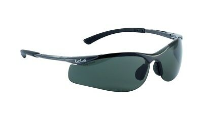 Bolle Contour Smoke Safety Glasses Cycling UV Protection Sunglasses + FREE BAG