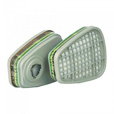 3M 6059 (Pair)ABEK1 Organic Vapour Filters 6000 Half Mask 6000 Series Dust Mask