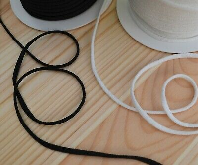 Round stretchy elastic cord 2.2 mm or 3 mm choice of colours sewing & crafts