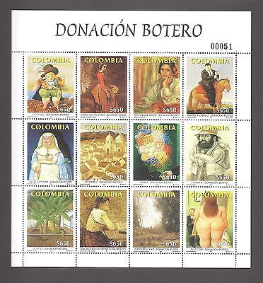 Colombia 2001 Complete Year -Low Number  #000051 !!!    Mnh