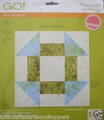 """ACCUQUILT Go! Fabric Cutting Die ~ CHURN DASH ~ 9"""" Finished ~ 55339 ~ NEW P&P"""