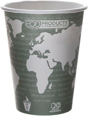 World Art Renewable Resource Compostable Drink Cups 12 Oz. Green 1000 Per Case
