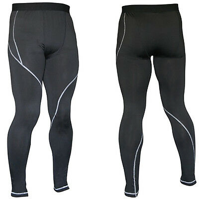 Chadwick Base Layer Tights Pants Full Length Compression Bottoms - L/XL