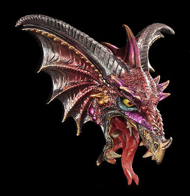 Wandrelief - Dark Legend Drachen Kopf - Figur Wand Deko Fantasy