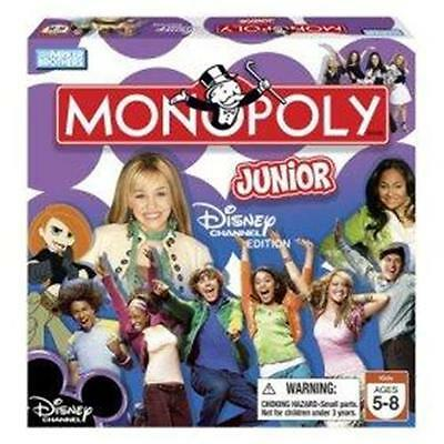 Disney Channel Junior Edition Monopoly Game Hannah ages 5 - 8 NEW