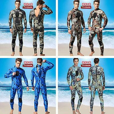 Mens Camo Camouflage 3mm Neoprene zipper back Diving spearfishing wetsuits new