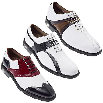 Footjoy Mens Icon Golf Shoes 6 / 6.5 Uk New Waterproof Leather Fj Classic Style