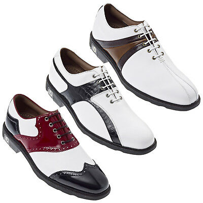 Footjoy Mens Icon Golf Shoes Size 6 Uk - New Waterproof Leather Fj Classic Style