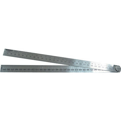 Kennedy Folding Line of Chords , Angles and Circumference Rule 600mm Ruler Metal