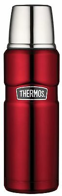 THERMOS Stainless King Isolierflasche / Thermosflasche Rot 0,47 ltr. Neu & OVP