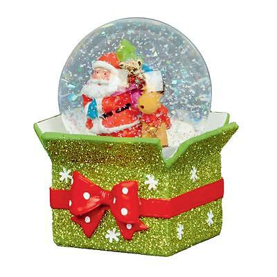 Christmas Decoration 65mm Snow Globe with Parcel Base - Santa