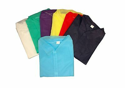 Disposable Lab Coats Polypropylene No Pockets 44 Inches Long Case of 50