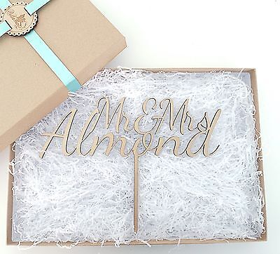 Large Personalised Wooden Wedding Cake Topper - Mr & Mrs
