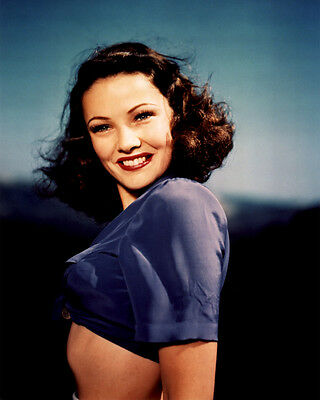 Gene Tierney Hollywood Actress 1 Rare Glossy Lab Photo 8X10 8 X 10 Picture #112
