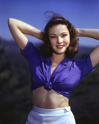 Gene Tierney Hollywood Actress 1 Rare Glossy Lab Photo 8X10 8 X 10 Picture #113