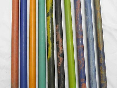 New Ebonite Rods -20Mm Dia- 10 Excellent  Colors Available - 10 Inches Length-