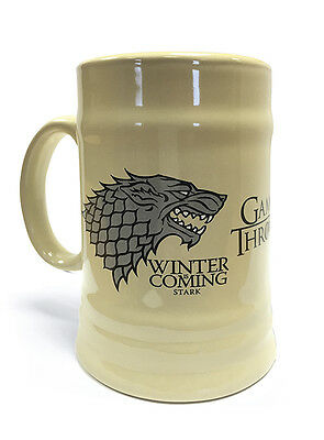 NEW OFFICIAL GAME OF THRONES (House Stark) CERAMIC STEIN BY PYRAMID MGS23800