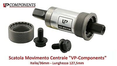 "0520 Scatola Movimento Centrale ""VP"" 127,5mm-ITA per bici 20-24-26-28 City Bike"