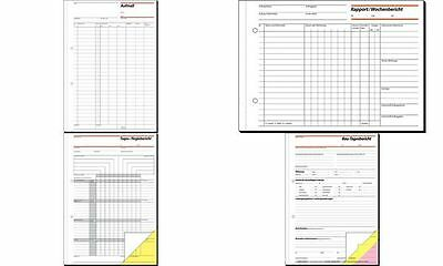 """sigel Formularbuch """"Rapport/Tagesrapport"""", 105 x 200 mm, SD"""