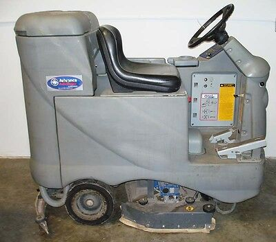 Advance Advanger Ride On Scrubber, Rider Scrubber, Used