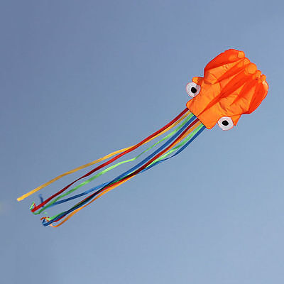 4M Single Line Stunt Red Octopus Power Sport Flying Kite Outdoor Activity Toy GV