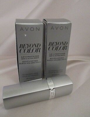 *NEW*- AVON Beyond Color Lip Conditioner -SPF 15 {LOT OF 2 TUBES}  $16 Retail