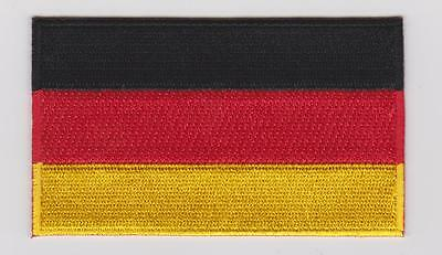GERMAN FLAG PATCH IRON ON GERMANY EMBLEM Deutsche Flagge PATCH 100% EMBROIDERED