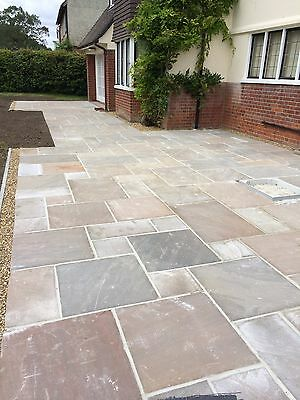 Autumn bronze Indian Sandstone Paving Natural Slabs Patio Pack 16.06 Sqm