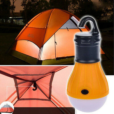 Outdoor Hanging LED Camping Tent Light Bulb Fishing Lantern Lamp Portable green