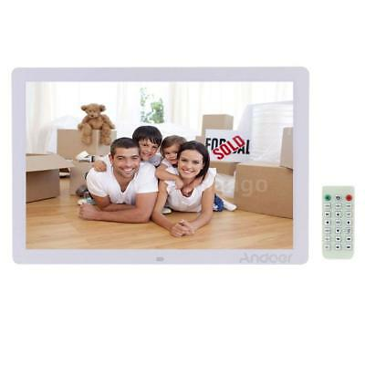 "17"" LED HD 1080P Digital Photo Frame Picture Alarm Clock MP3 MP4 Movie Player US"