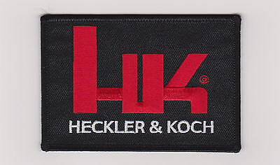 Hk Firearms Heckler & Koch Logo Patch Hook & Loop Fastener Backing Patch