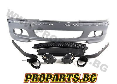 Bmw E46 Saloon Estate M Sport M Tech Ii Front Bumper Set Equipped With Fogs