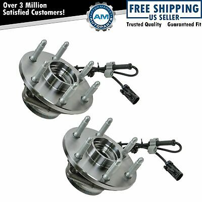 2 Front Wheel Hubs & Bearings Pair Set w/ ABS for Chevy GMC Truck 4X4 4WD