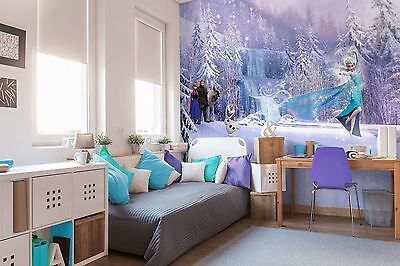 Giant wallpaper 368x254cm Disney Frozen Elsa boys & girls bedroom wall mural