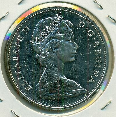 1965 Canada Dollar, Choice Prooflike Bu From Mint Set, Great Price!