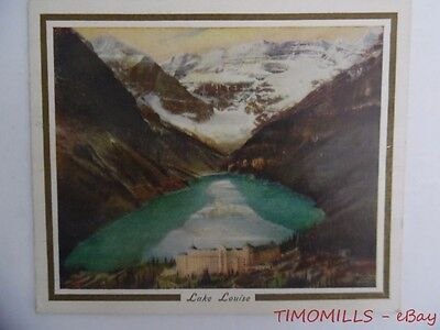 c.1927 Canadian Pacific Railway Imperial Dining Car Service Menu Lake Louise CPR