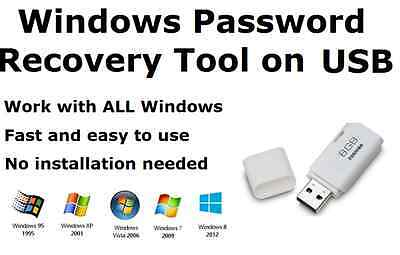 Password Reset / Recovery / Unlock Tool for ALL Windows on 8GB USB