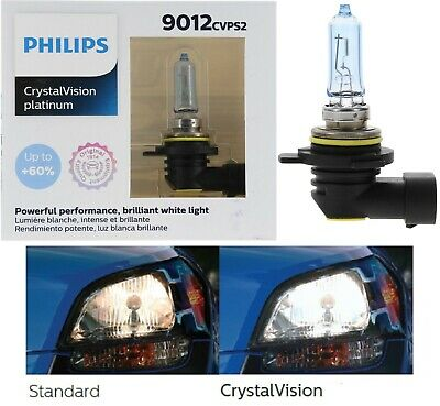 Philips Crystal Vision Ultra 9012 HIR2 55W Two Bulbs Headlight Replace High Low