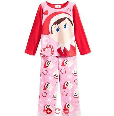 """Toddler /""""Elf on the Shelf/"""" Holiday//Christmas Nightgown Flame Resistant NIP"""