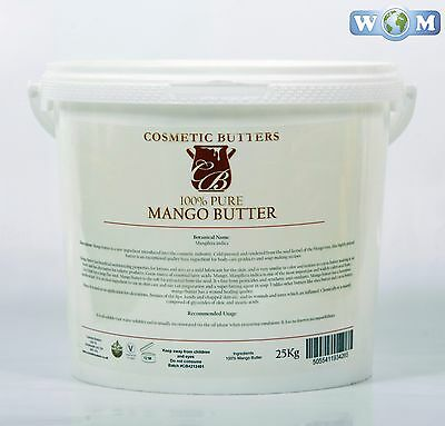 Mango Butter - 100% Pure and Natural - 5Kg (BUTT5KMANG)