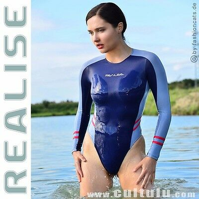 Realise [T015] langarm String Badeanzug SSW wetlook thong swimsuit leotard Japan