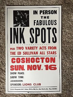 The Ink Spots Original Concert Boxing Style Poster