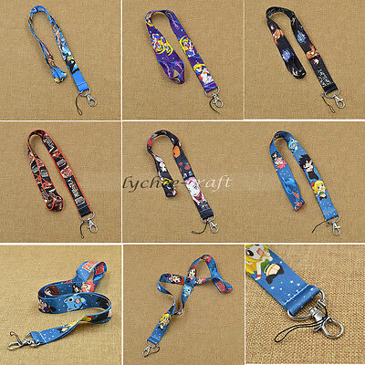 Japanese Anime One Piece Sailor Moon Attack On Titan Neck Lanyard Phone Hold New