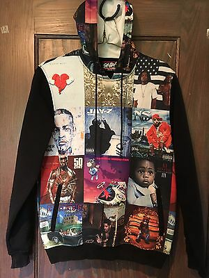 SMW Rap Music Album Cover Hoodie Sweatshirt Full Color M Jay-Z Drake 50 Cent