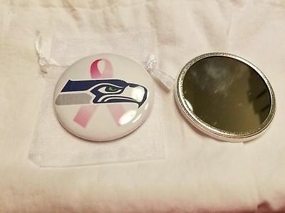 Seattle Seahawks Pocket Mirror Breast Cancer Awareness