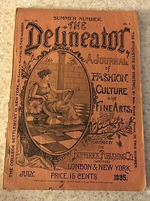 The Delineator orig 1895 Butterick Co Clothing Sewing Pattern Catalog Magazine