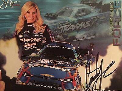 Courtney  Force Signed autographed Hero Card  photo  NHRA