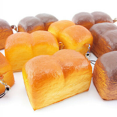 Jumbo Loaf Simulation Bagels Squishy Soft phone Charm Bread Scented Strap