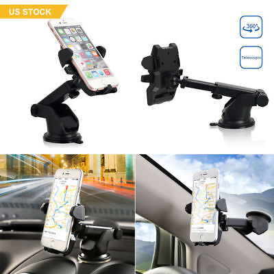 360° Universal Car Dashboard Mount Holder Stand Cradle for Mobile Phone GPS